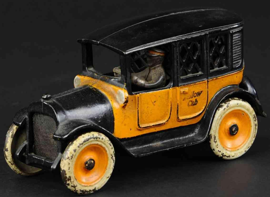 arcade gusseisen taxi als spardose orange schwarz