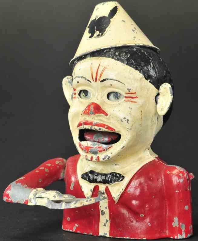 ashworth thomas aluminium spielzeug froehlicher schwarzer sonnyboy clown spardose