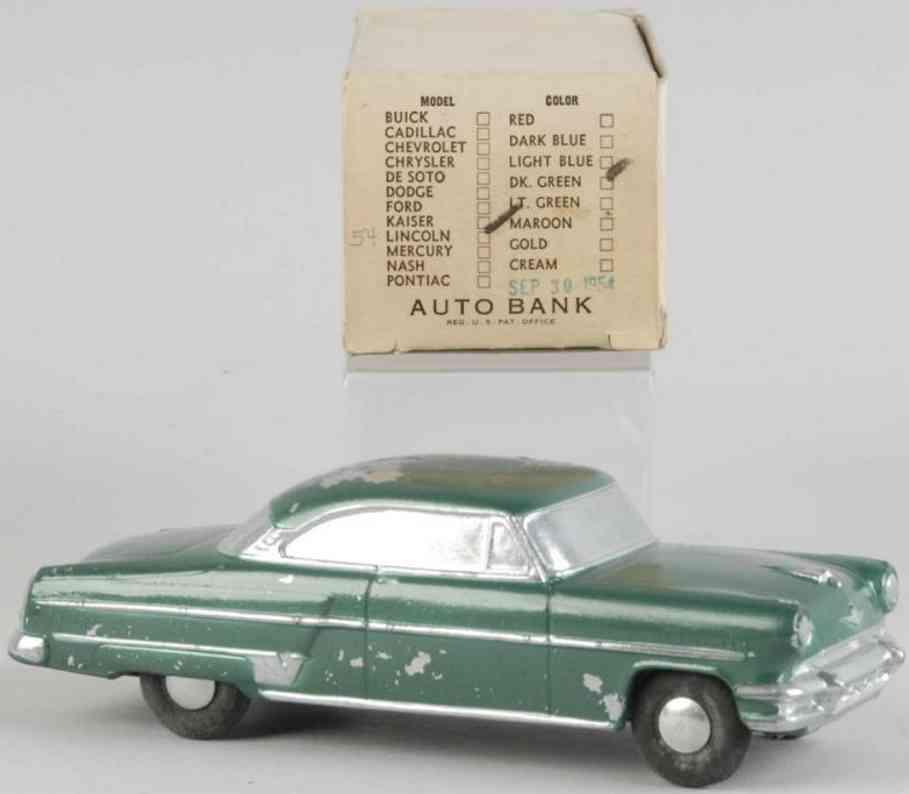 Banthrico Kaiser Auto als Spardose aus Druckguss 1954