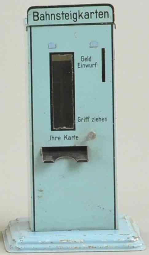 doll blech spielzeug bahnsteigkartenautomat blau als spardose