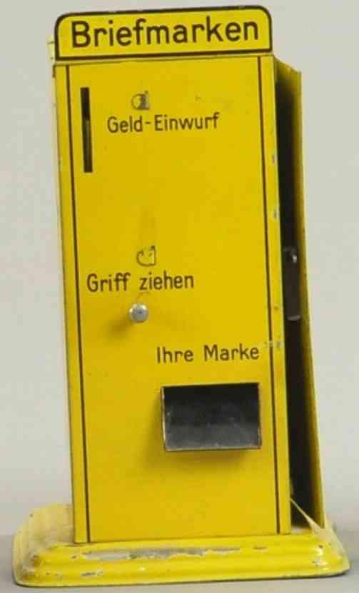 doll blech spielzeug briefmarkenautomat gelb als spardose