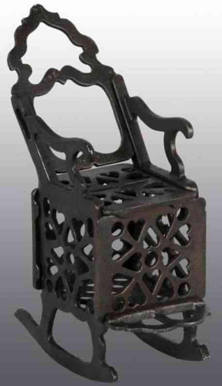 enterprise manufacturing co  cast iron toy rocking chair still bank