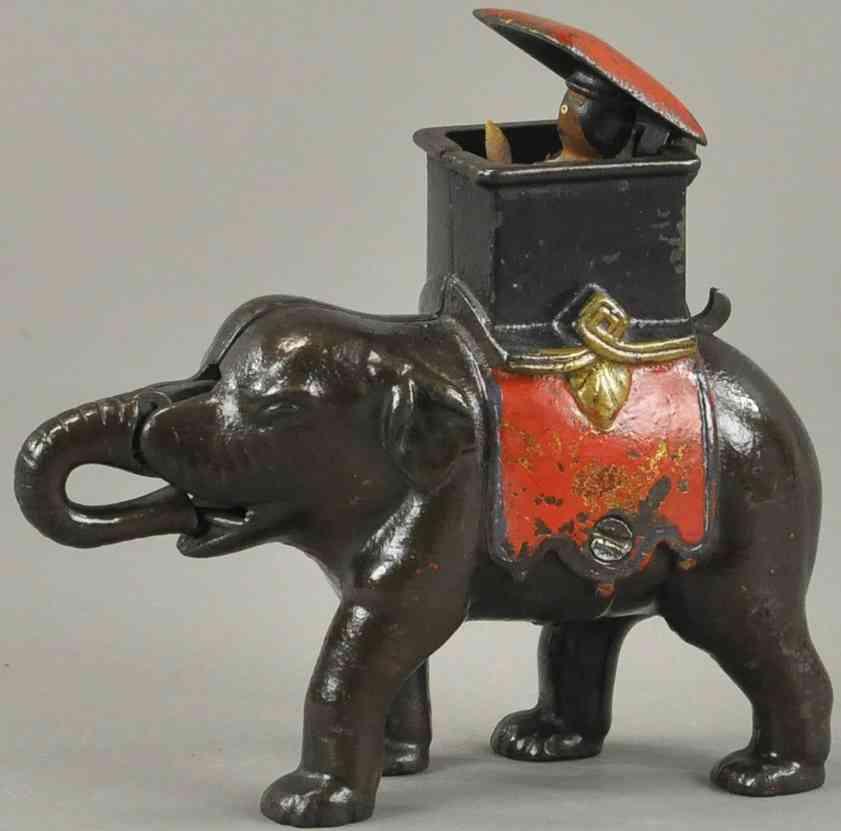 enterprise manufacturing co spielzeug gusseisen spardose mann aus saenfte auf elefanten