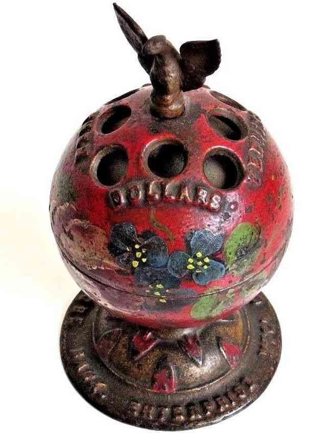 enterprise manufacturing co Globe cast iron toy globe still bank