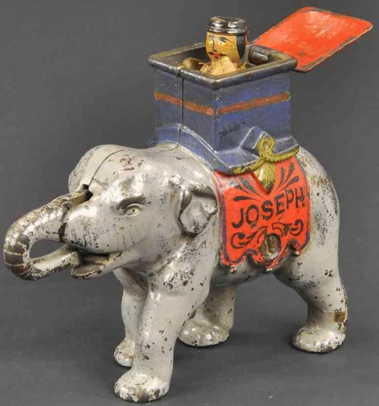enterprise manufacturing co spielzeug gusseisen elefant mit saenfte spardose