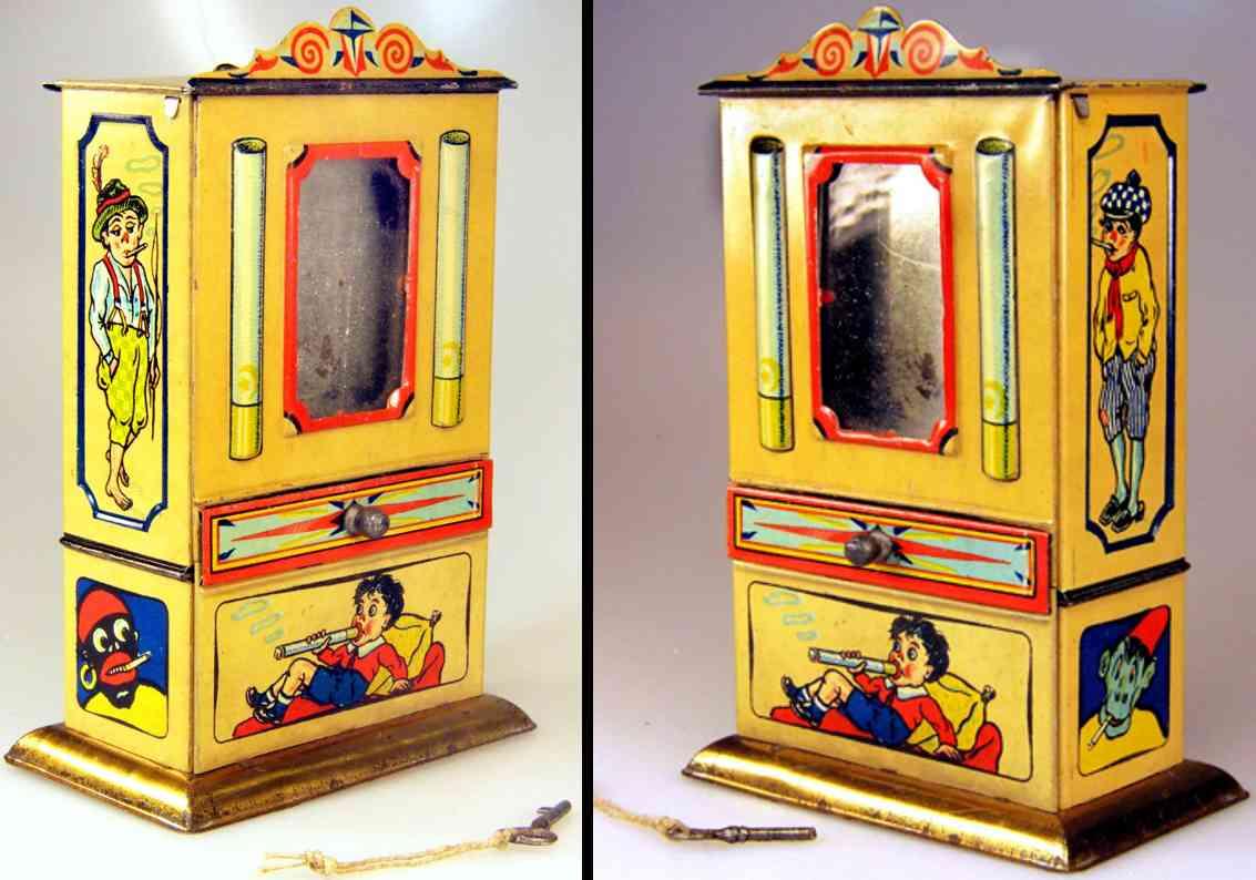 greppert & kelch blech spielzeug schokoladenautomat zigaretten