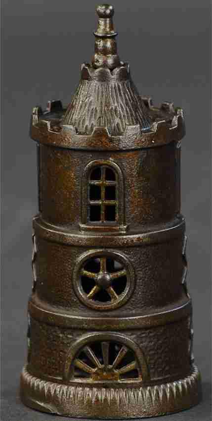 grey iron casting co spielzeug gusseisen columbia turm spardose lackiert
