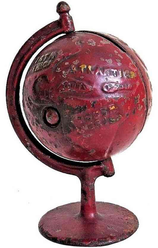 grey iron casting company gusseisen spardose globus kreisbogen rot