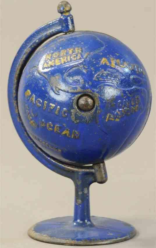 grey iron casting company gusseisen spardose globus kreisbogen blau