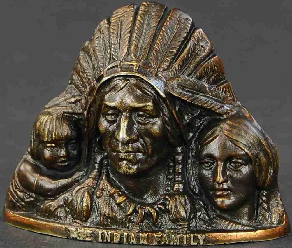 harper co john spielzeug gusseisen indianische familie als spardose mann frau kind