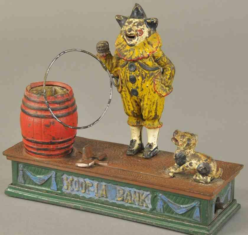 harper co john gusseisen spardose clown hund fass