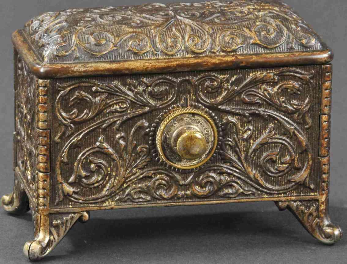 hart company cast iron toy treasure box still bank