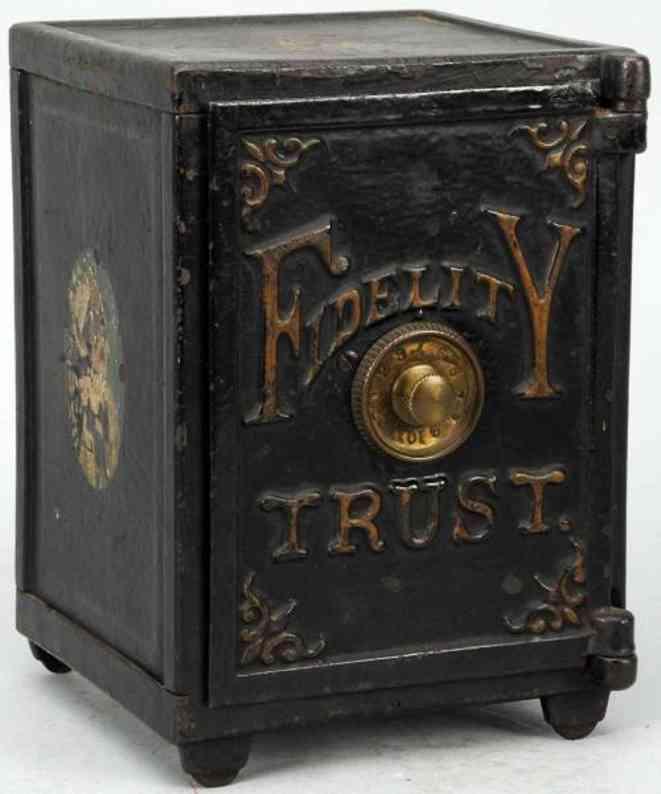 hart company cast iron toy fidelity trust safe still bank