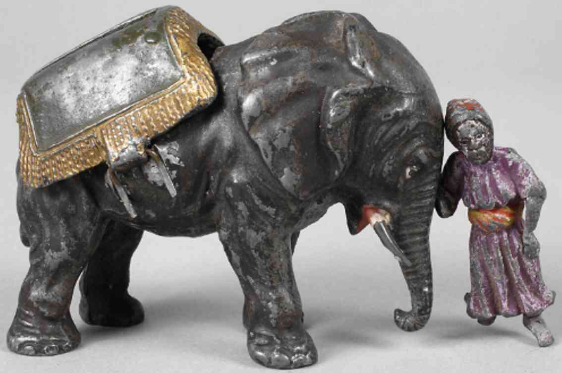heyde elefant beduine blech spielzeug spardose zinn in hohlguss und vollguss