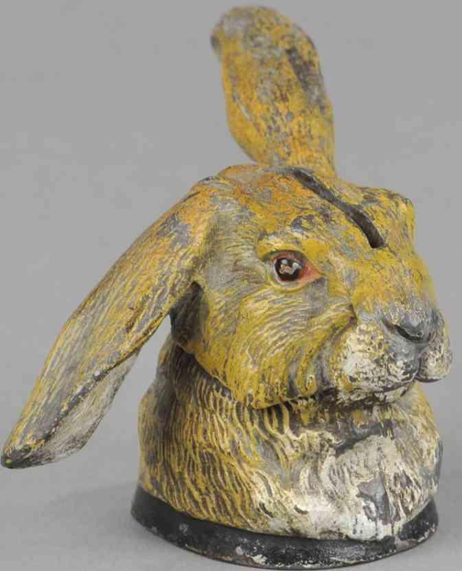 heyde spielzeug spardose kaninchen kopf zink