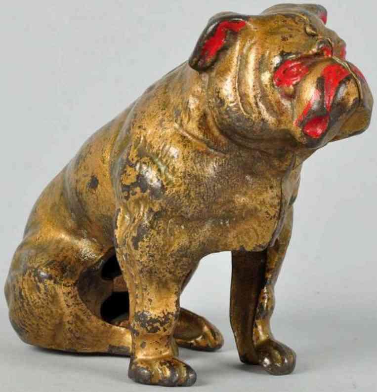 Hubley Seated bulldog still bank