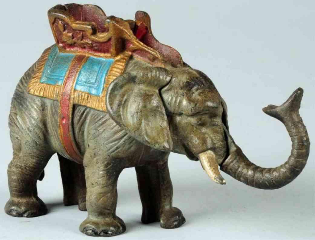 hubley gusseisen spardose elefant mit saenfte