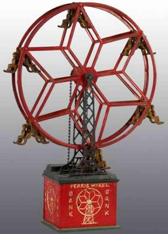 hubley cast iron toy ferris wheel as mechancial bank