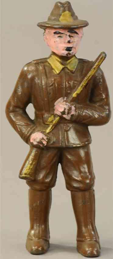hubley soldier spielzeug gusseisen gusseiserner freiwilliger soldat als spardose
