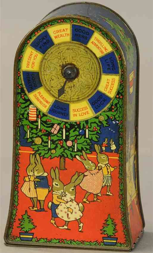 huntley & palmers tin toy lucky wheel bank coin deposit