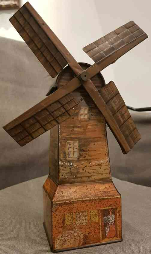 huntley & palmers tin toy windmill figural biscuit