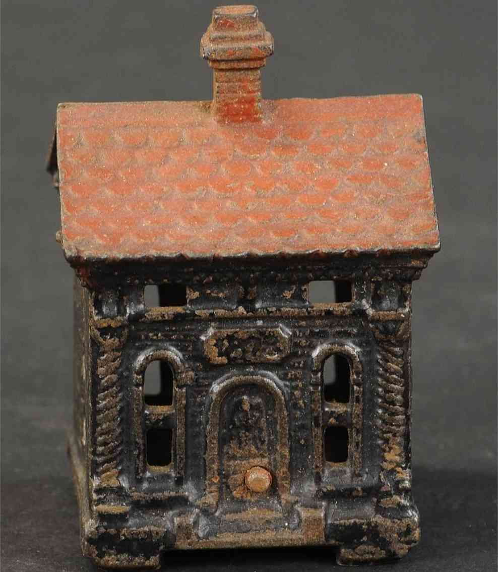 judd hl cast iron toy building as bank