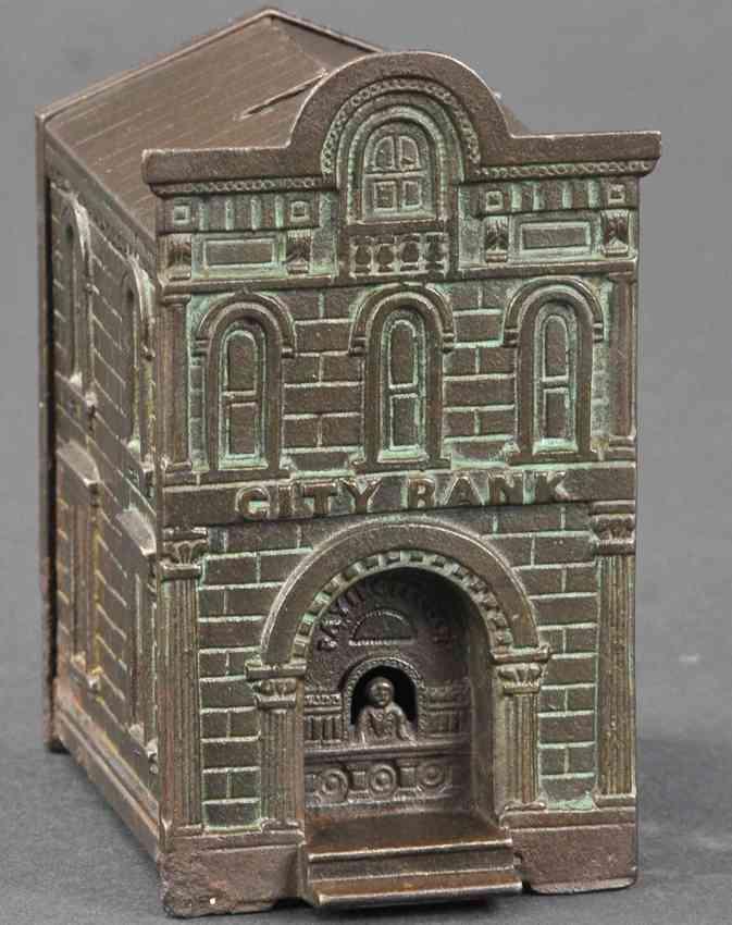 judd hl spielzeug gusseisen stadtbank mit kassierer als spardose