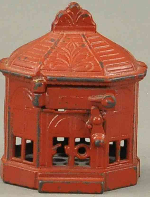 judd hl cast iron toy snap it mechanical bank painted red