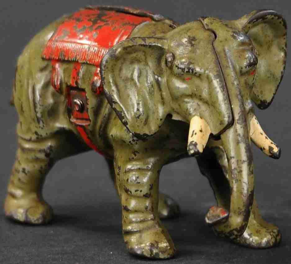 kenton hardware co spielzeug gusseisen elefant mit roter decke als spardose