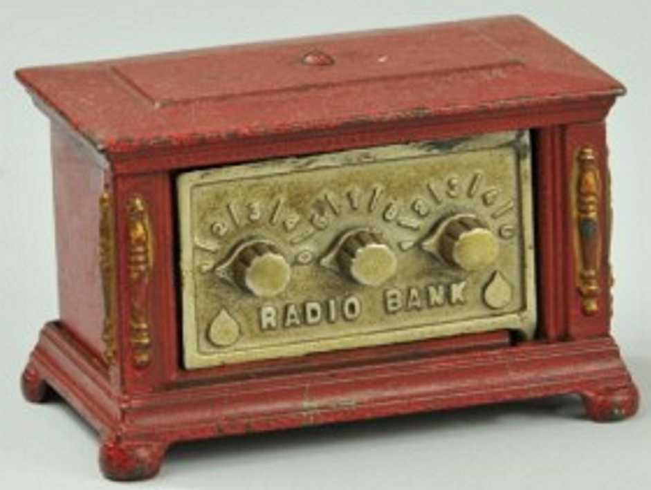 kenton hardware co spielzeug gusseisen radio als spardose