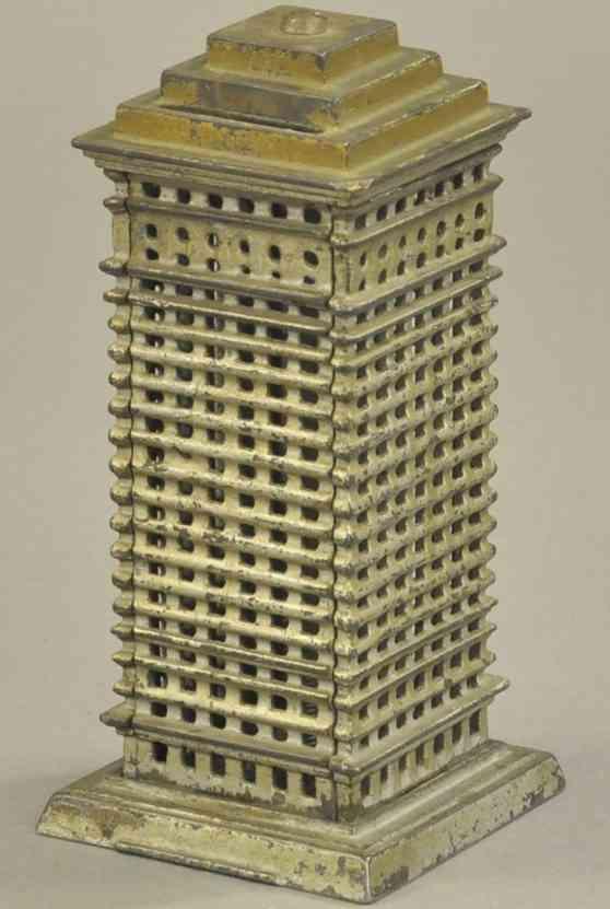 kenton hardware co spielzeug gusseisen spardose hochhaus stufendach silber gold