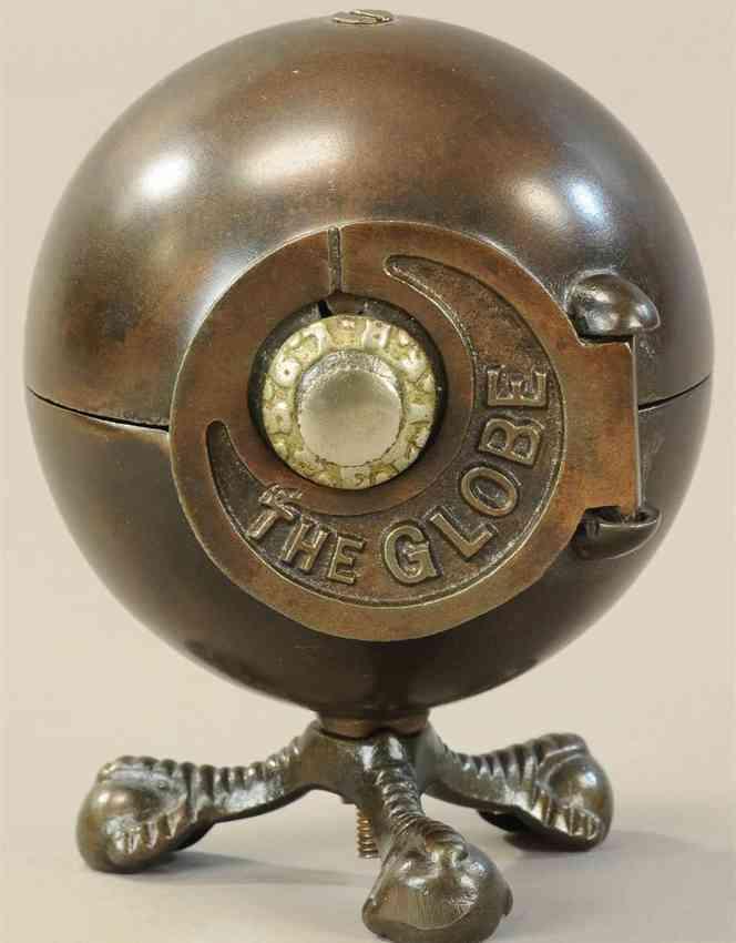 kenton hardware co gusseisen spardose genannt the globe kombinationsschloss