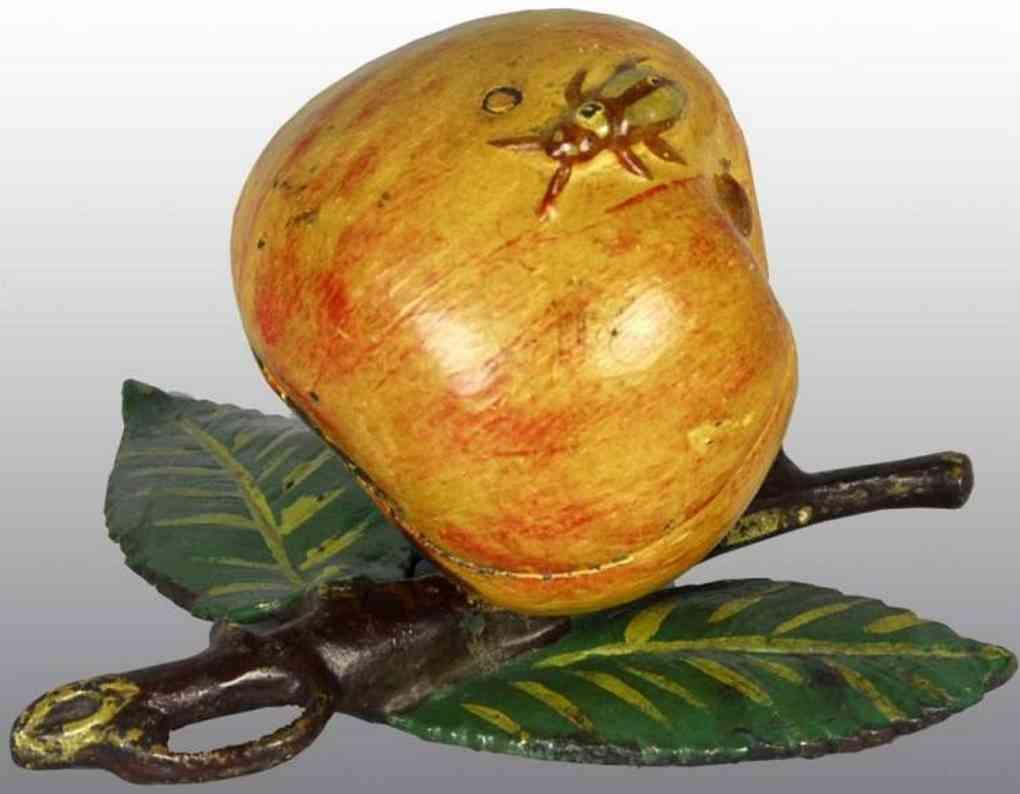 kyser & rex cast iron toy apple still bank