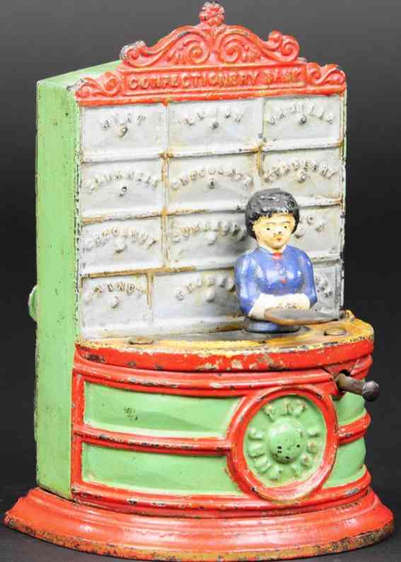 kyser & rex cast iron toy confectionery mechanical bank
