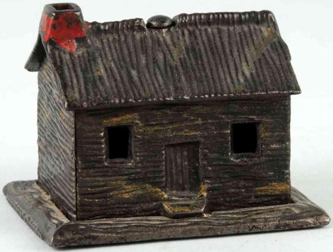kyser & rex spielzeug gusseisen blockhaus als spardose in schokoladenbraun