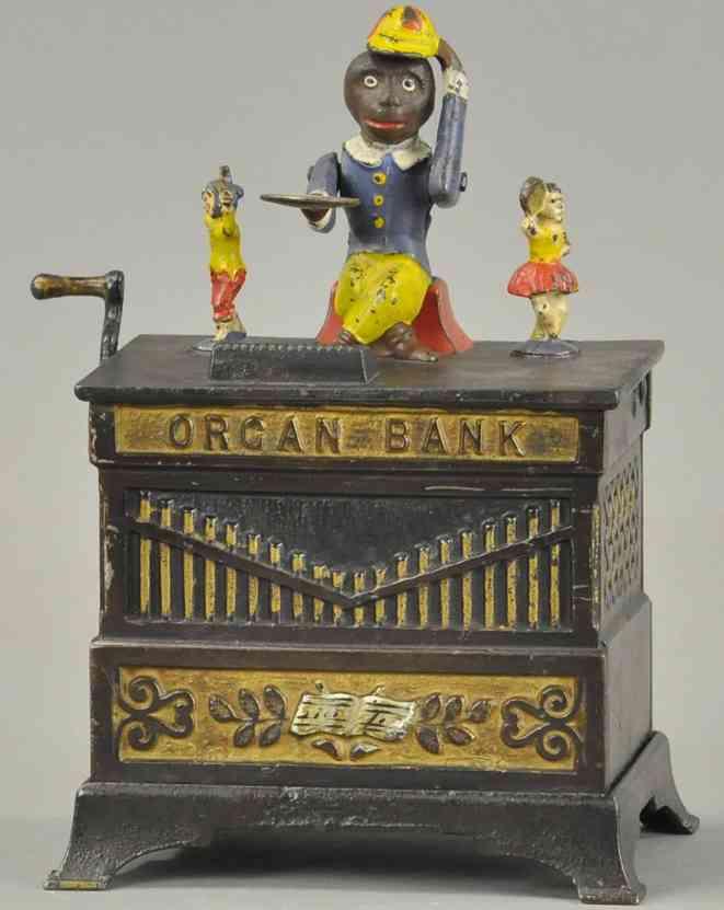 kyser & rex spielzeug gusseisen orgel als spardose junge maedchen affe