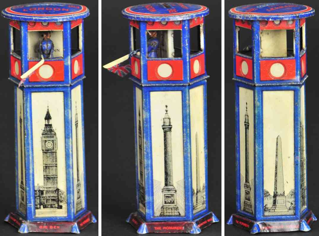 lehmann 791 blech spielzeug spardose londoner verkehrsturm als spardose  blau