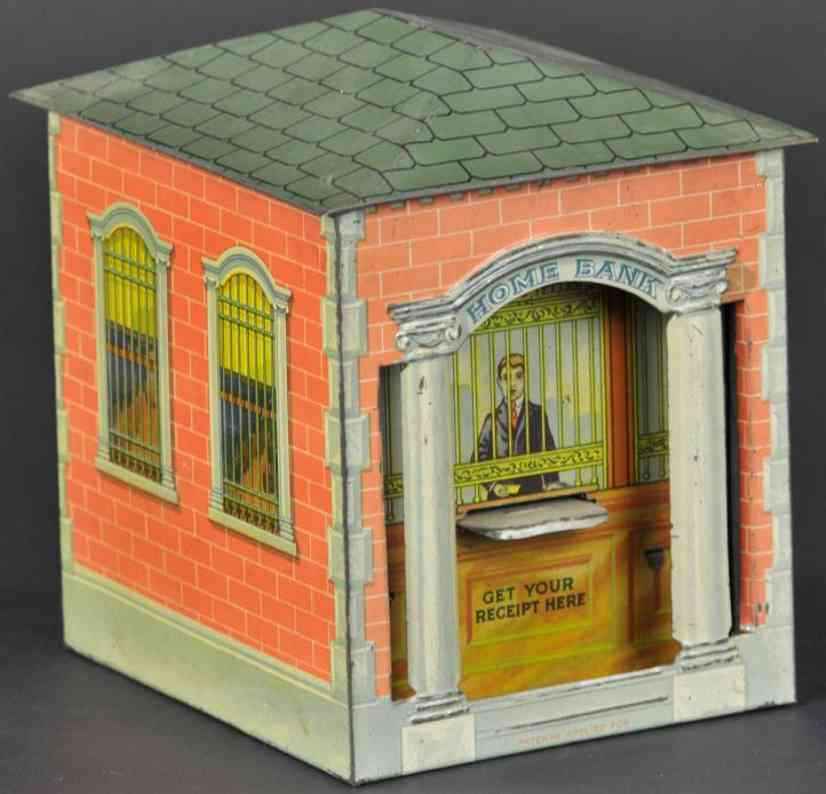 morrison william tin mechanical home bank