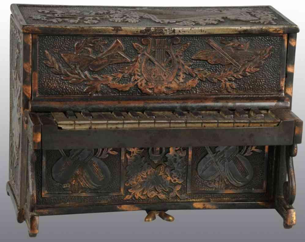 roche spielzeug gusseisen piano als spardose