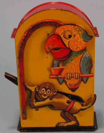 saalheimer & strauss blech spielzeug spardose affe und papagei