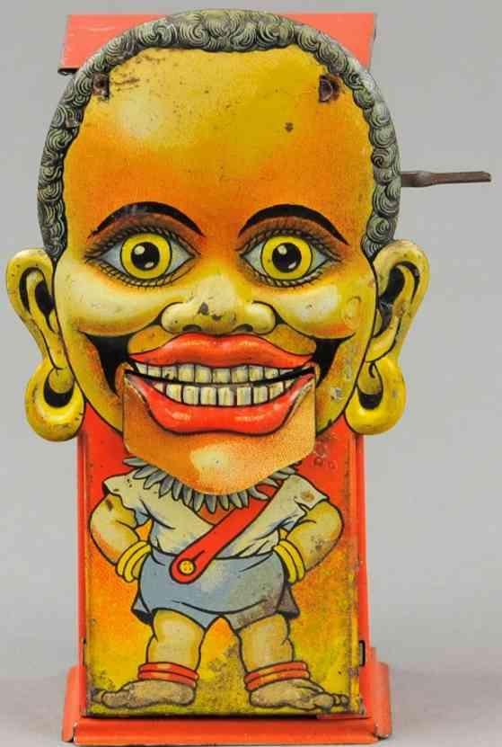 saalheimer & strauss blech spielzeug afrikanischer eingeborener spardose lyons toffee