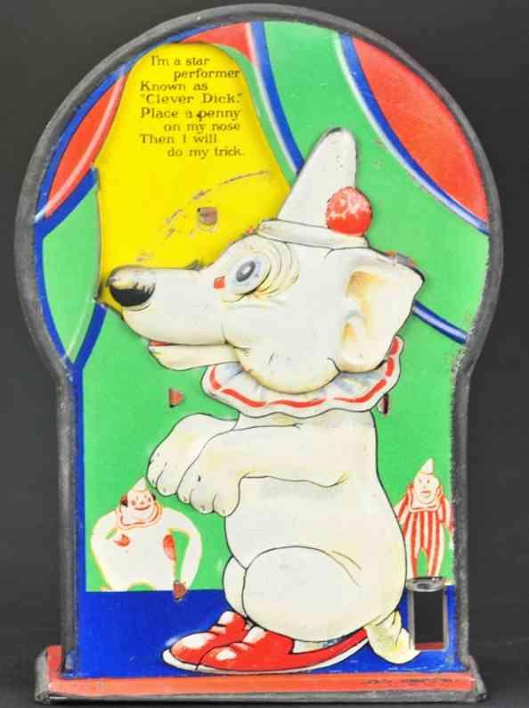 saalheimer & strauss blech spielzeug clever dick hund als spardose
