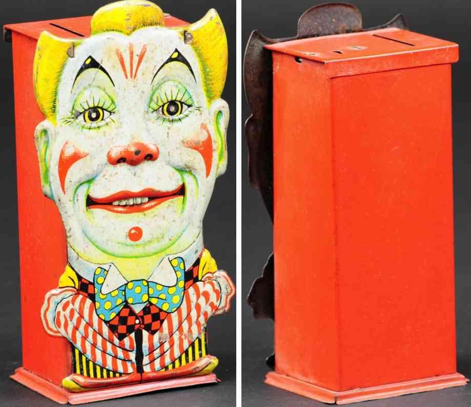 saalheimer & strauss blech spielzeug britischer clown als spardose