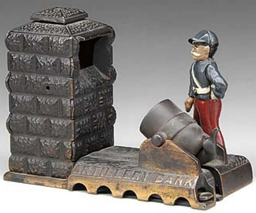 Shepard Hardware Co Artillery mechanical bank