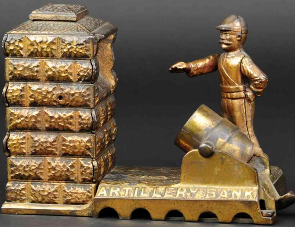 shepard hardware co spielzeug gusseisen artillerie spardose bronze-finish
