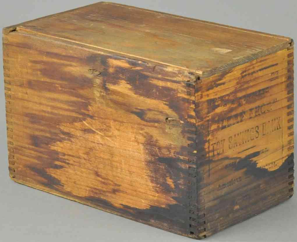 shepard hardware co spielzeug gusseisen spardose holzbox sprungfrosch