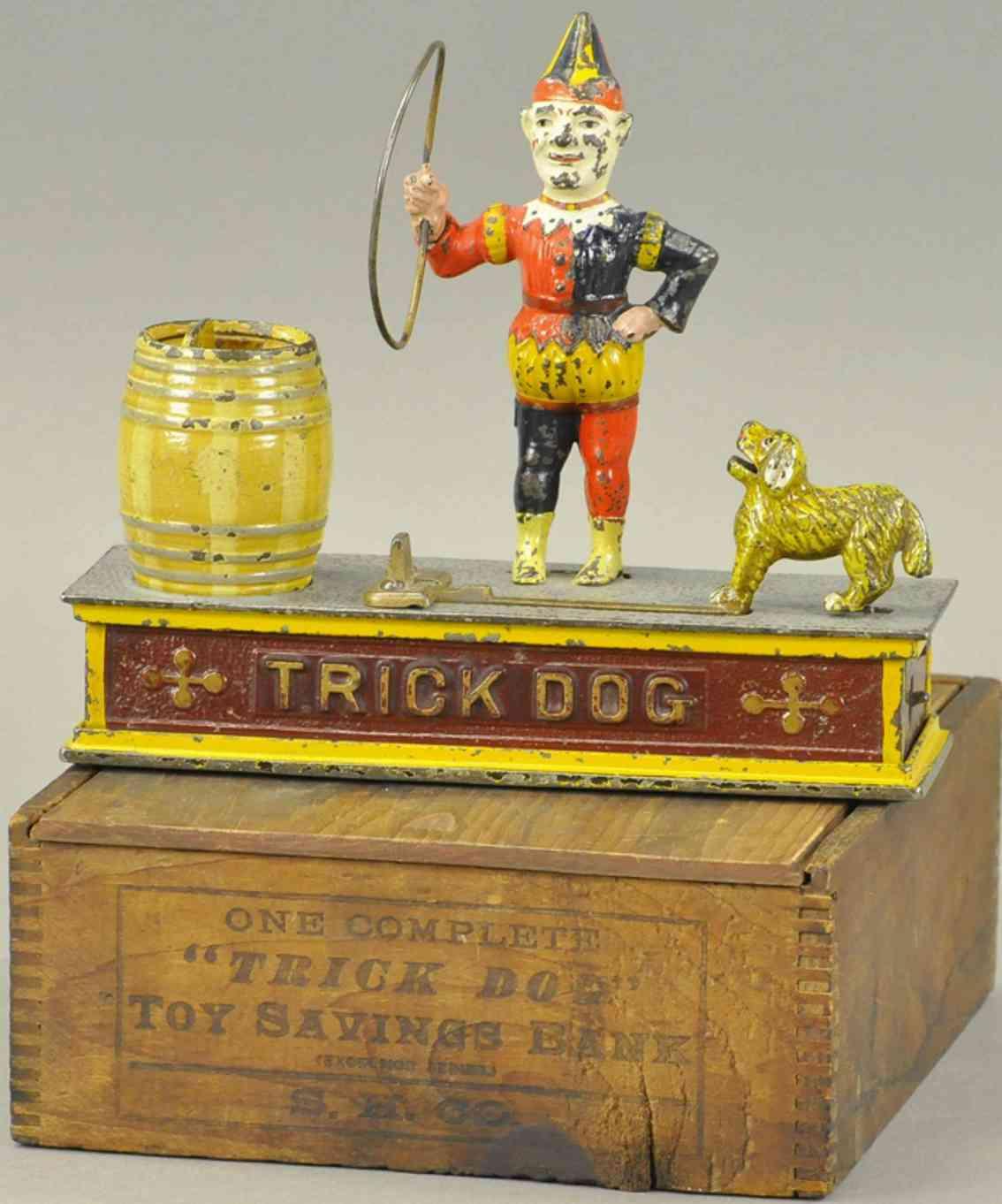 shepard hardware co 20 spielzeug gusseisen trick dog mann hund fass