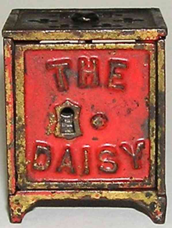 shimer toy co 1 spielzeug gusseisen the daisy safe als spardose rot gold