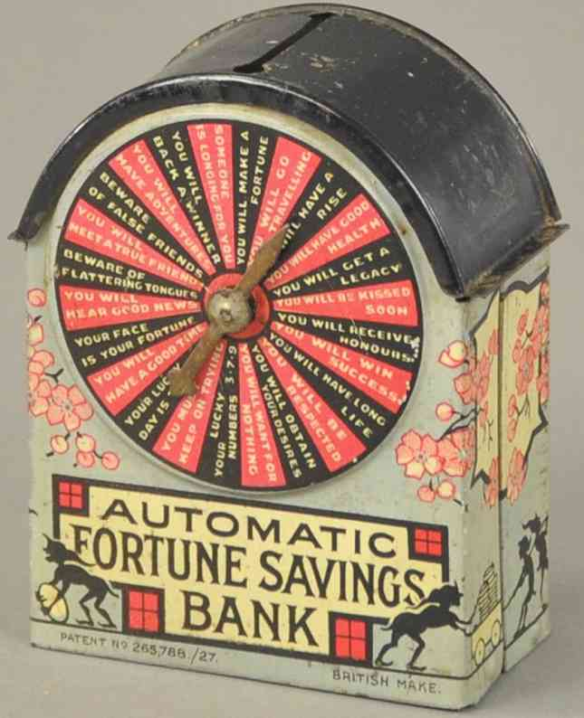 soroko leon tin toy automatic fortune savings mechanical bank