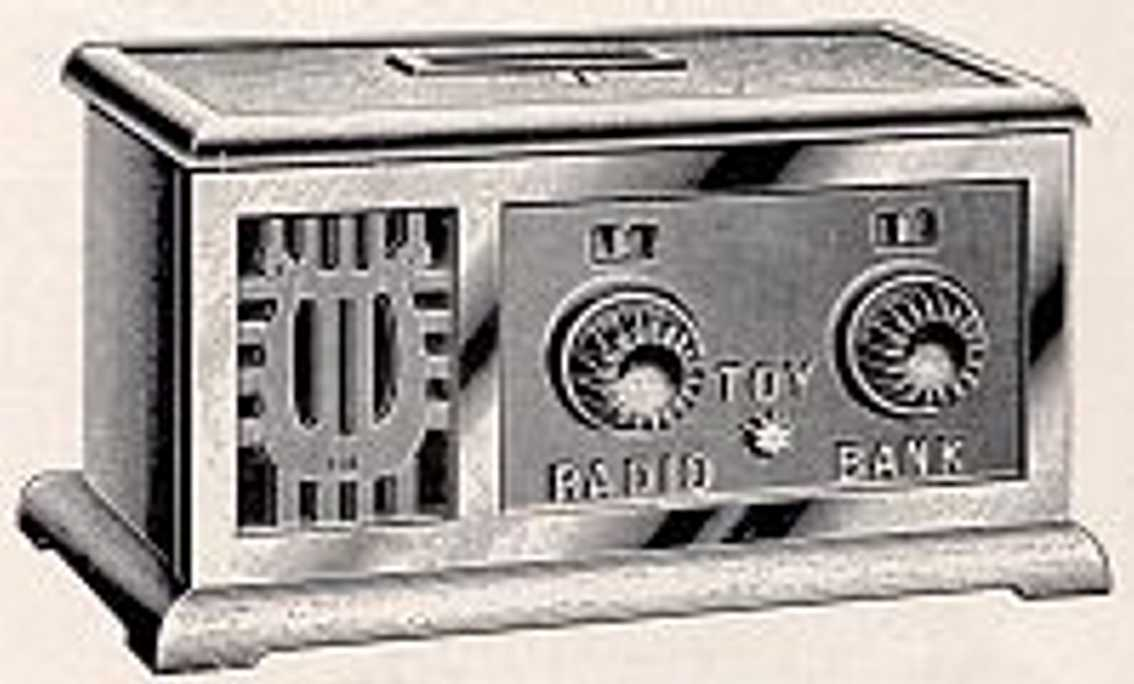 Stevens Co J. & E. 127 Spardose Spielzeugradio
